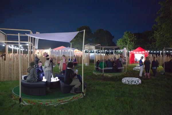 Bamboo festival enclosure