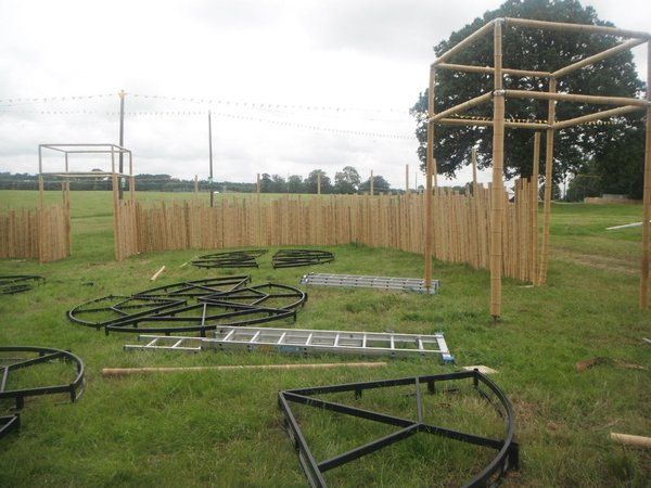 Bamboo themed fencing