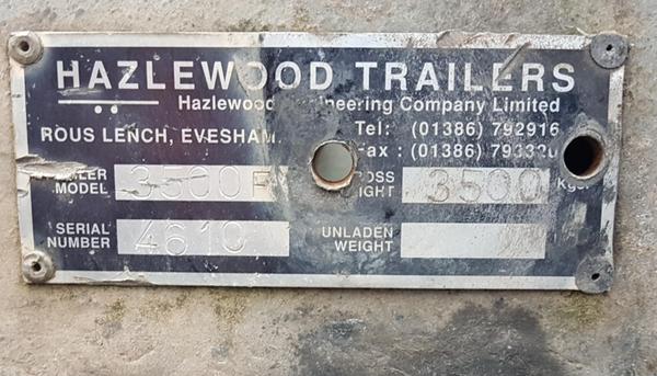 Hazelwood Twin Axle Curtain Trailer 3.5Tonne 20ft