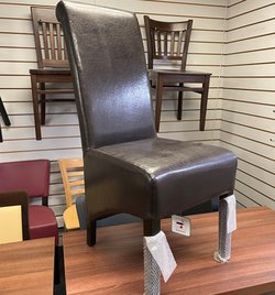 Chocolate Brown Leather Dining Chairs
