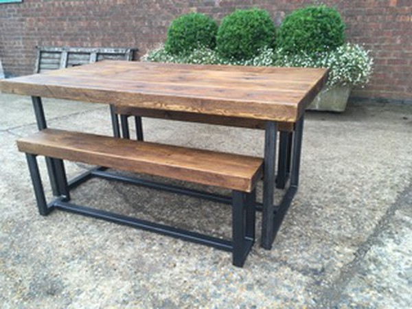 Industrial style benches