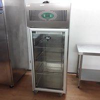 Used Foster EPROG500H Stainless Steel Upright Glass Fridge (7281)