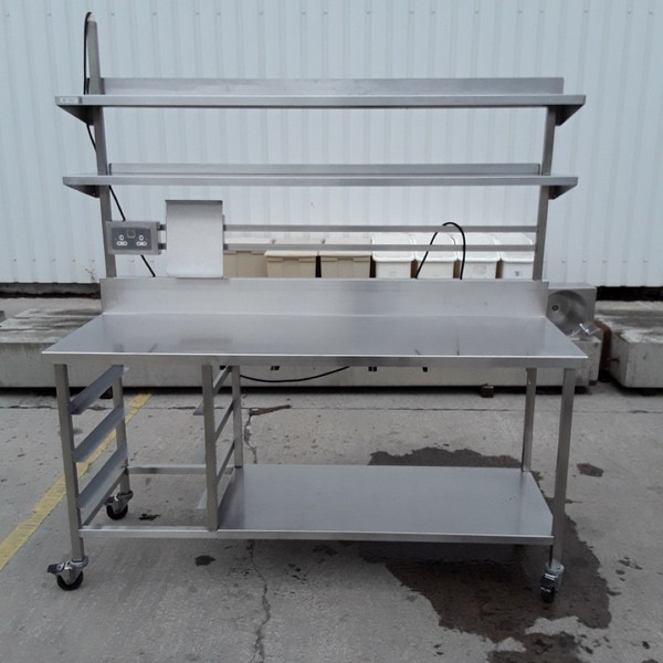Used Stainless Steel Table Shelf(7285)