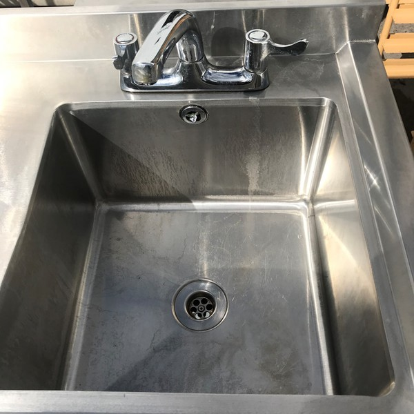 Secondhand stainless steel single sink for