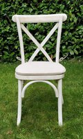 Whitewashed Oak Crossback Chairs for sale