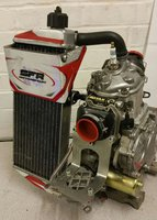 Kart Rotax Senior Max Engine 2014 with a KR Barrel with Power Valve and Radiator