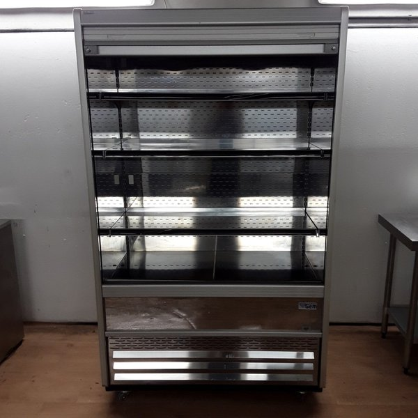 Stainless steel double deck fridge