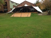 White RHI 10 x 12m Stretch Tent