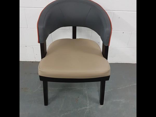 Contrasting Designer Tub Chairs