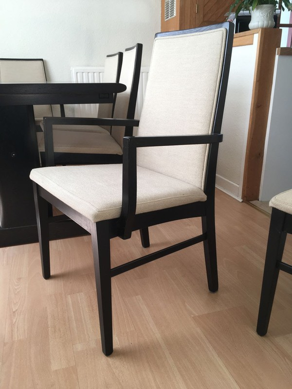 Carver dining chairs by Dyrlund