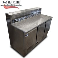 Pizza prep fridge with granite top