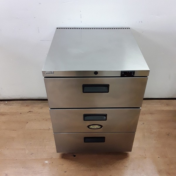 Used Foster HR150 Stainless Steel Triple Drawer Fridge (7341)