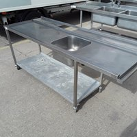 Used Stainless Steel Single Dishwasher Sink (7333)