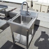 Used Stainless Steel Single Sink (7337)
