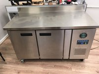 Used Polar Stainless Steel 2 Door Double Bench Freezer