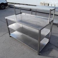 Stainless steel table with shelf