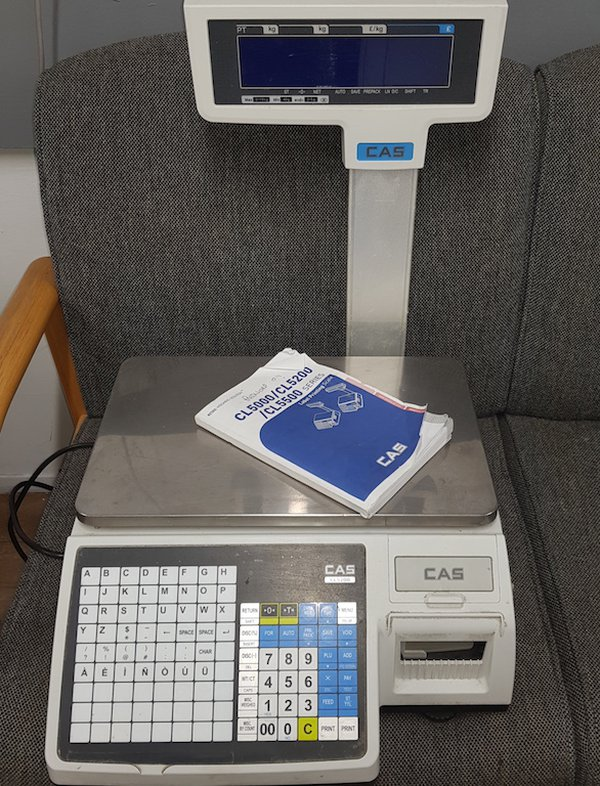Cas CL5000 Label Printing Scales