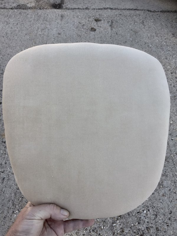Beige seat pads