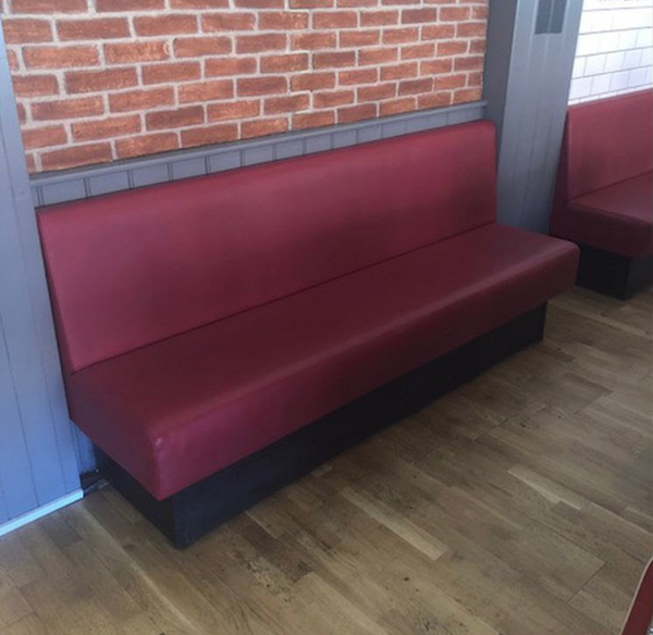 Red Banquette bench