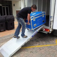 Flight case loading ramp