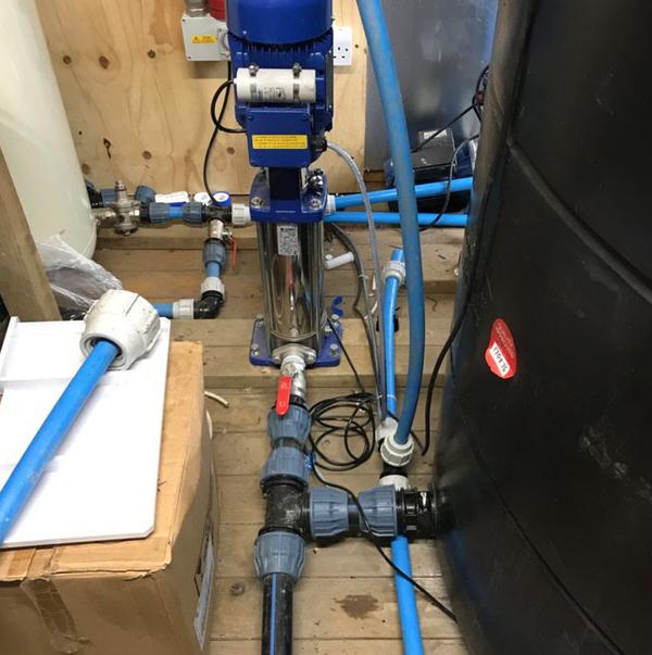 Used water storage