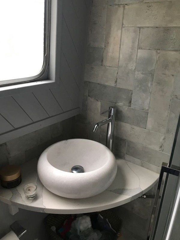 House boat designer bathroom