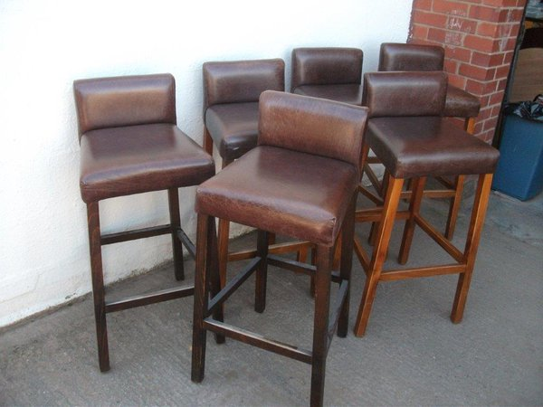 Dark tan bar chairs for sale