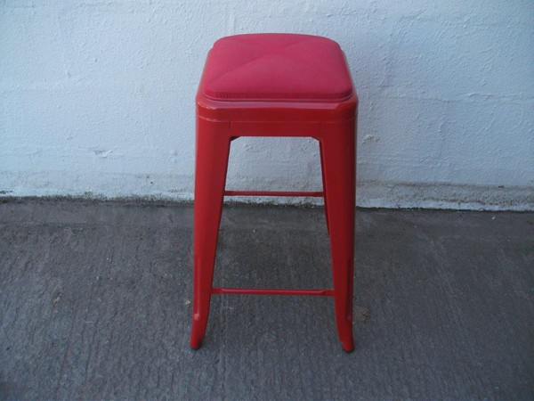 30x Red Metal Tall Stools CODE BS 176 Shropshire