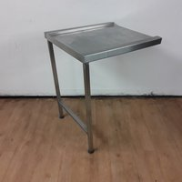 Dishwasher steel table