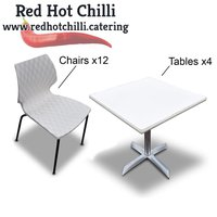 Secondhand chairs and tables for sale