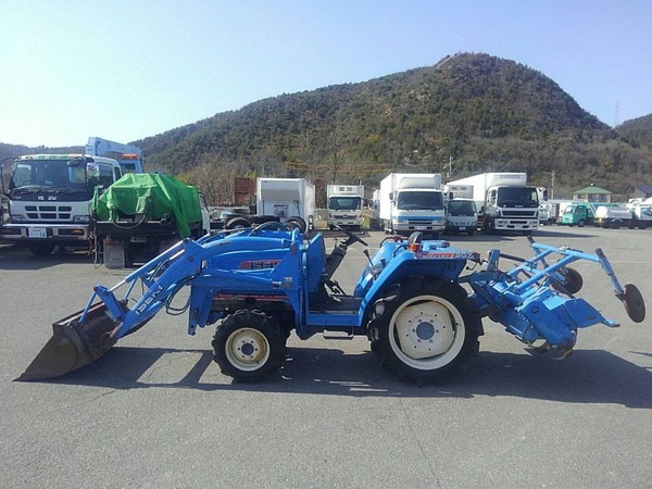 compact tractor with Rotavator