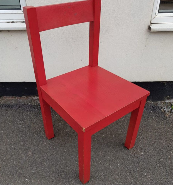Used red chairs