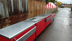 Used food service trolley
