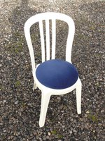 Blue Bistro Chair Seat Pads