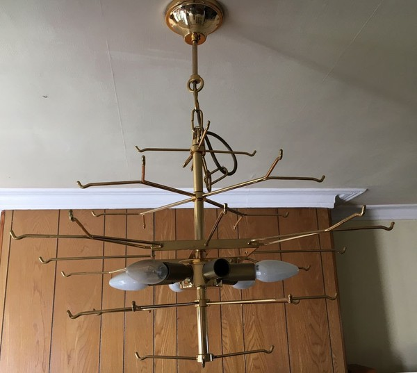Secondhand glass disc chandeliers
