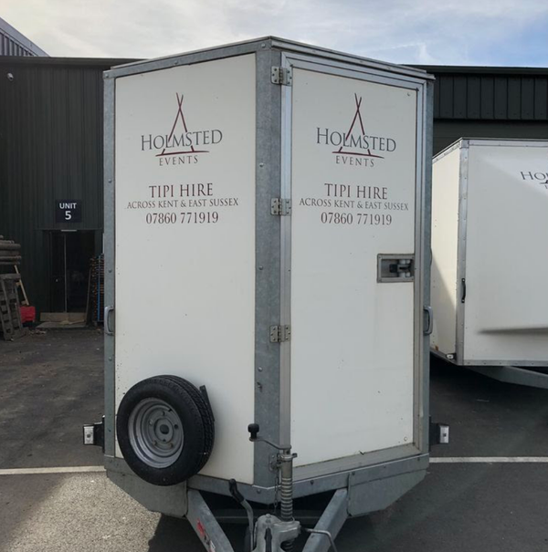 Secondhand box trailer