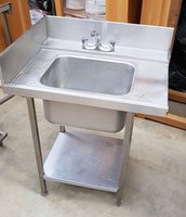 Corner Dishwashing Table