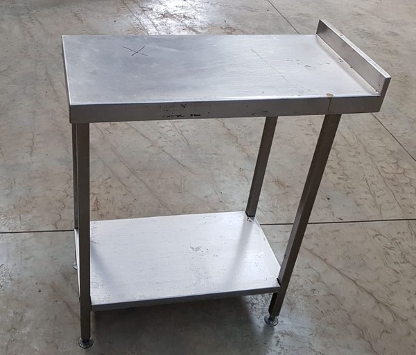 Stainless steel table   40wide by 81cm