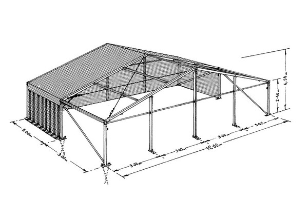 Secondhand 12 x 36 mater Marquee for sale