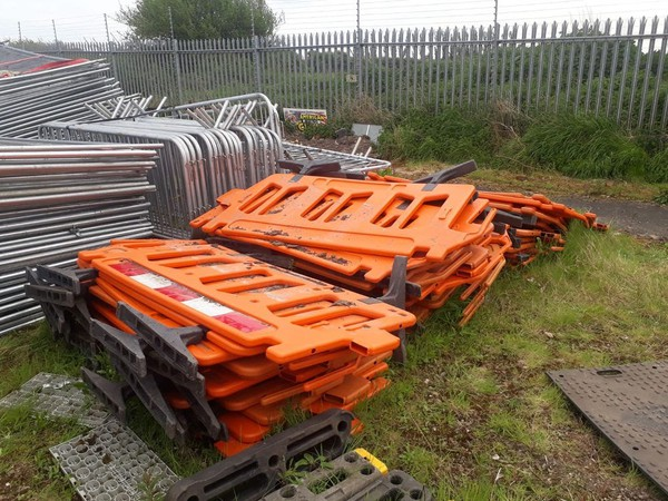 Secondhand road barriers for sale
