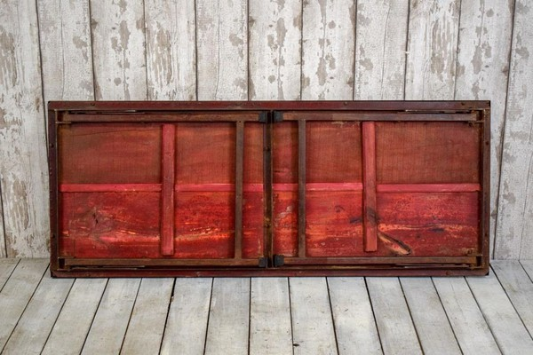 Red trestle tables for sale