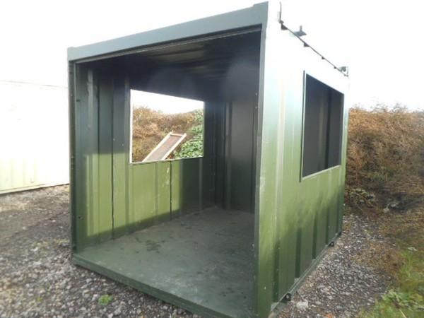 Used smoking shelter