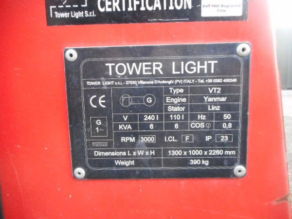 Secondhand 400w lighting tower