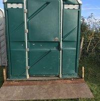 Disabled plastic toilet