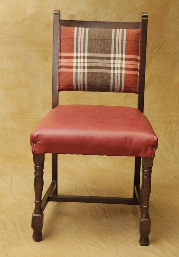 Tartan Covered Chairs