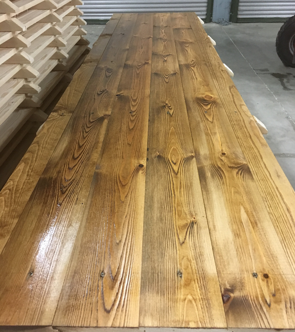 Pine board flooring for marquees