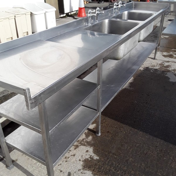 Steel double sink for sale