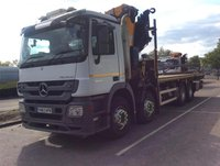 Mercedes crane lorry