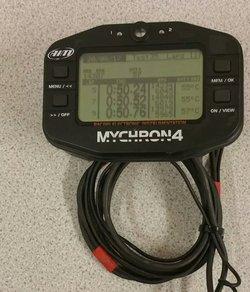 Mychron 4 Kart Lap Timer With Temperature and Lap Sensor Rev Lead OTK Mount