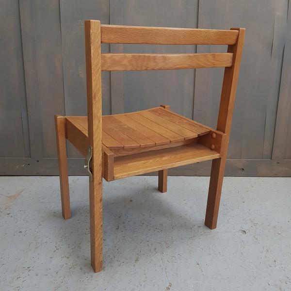 Oak slat chairs